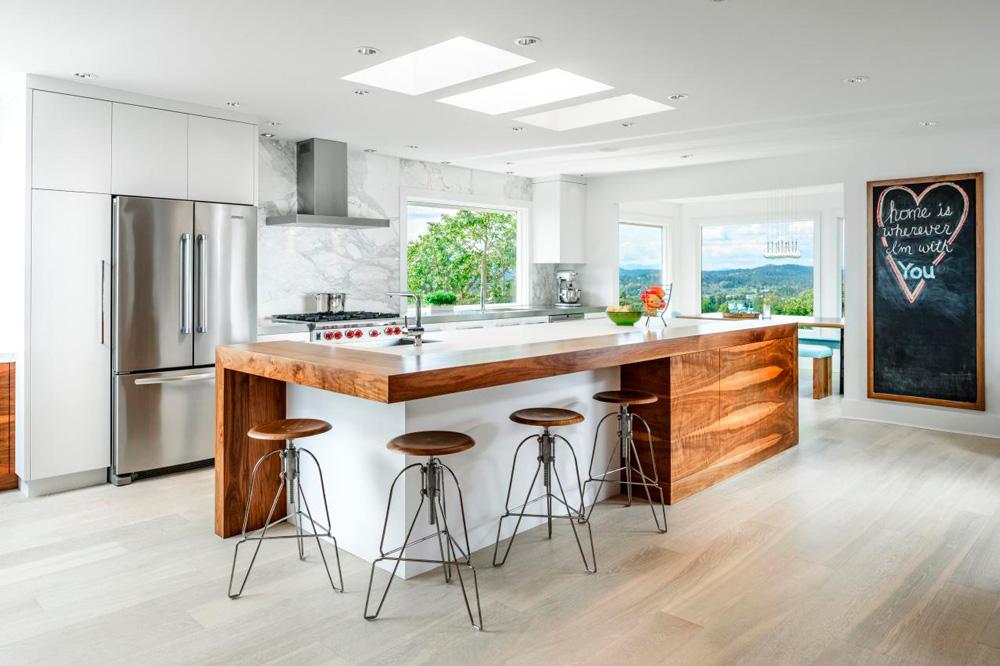 a continuacin tenemos otra de las ms elegida para las cocinas una cocina moderna con estilo minimalista y una iluminacin muy elegante