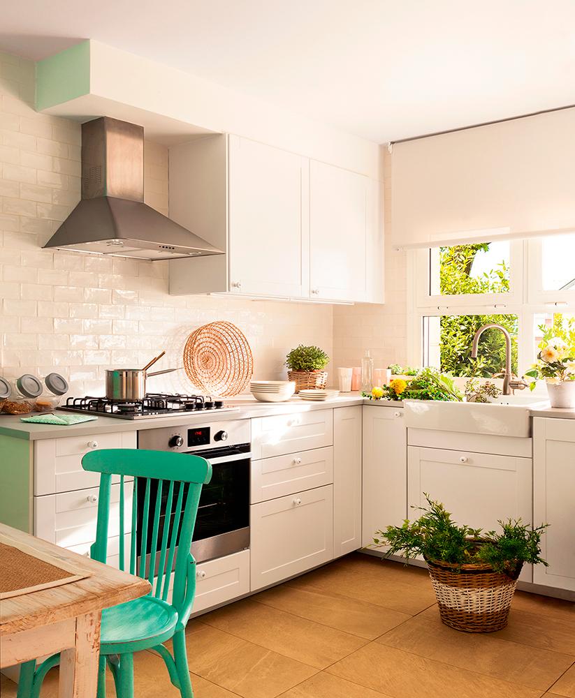 Peque as cocinas con grandes ideas cocimobel - Lavadora en la cocina ...