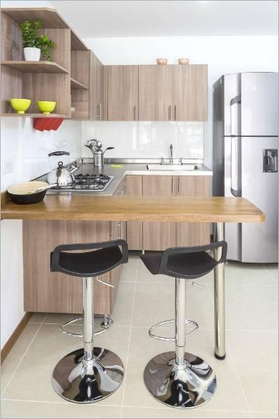 Cocinas con distintos tipos de barras americanas - Cocimobel
